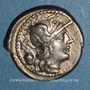 Monnaies République romaine. C. Cassius (vers 126 av. J-C). Denier