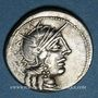 Monnaies République romaine. C. Cato (vers 123 av. J-C). Denier