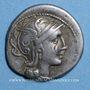 Monnaies République romaine. C. Claudius Pulcher (vers 110-109 av. J-C). Denier