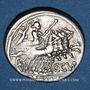 Monnaies République romaine. C. Curiatius Trigeminus (vers 142 av. J-C). Denier