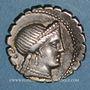 Monnaies République romaine. C. Naevius Balbus (vers 79 av. J-C). Denier dentelé