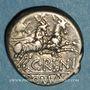 Monnaies République romaine. C. Renius (vers 138 av. J-C). Denier