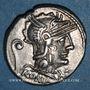 Monnaies République romaine. C. Servilius Vatia (vers 127 av. J-C). Denier