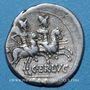Monnaies République romaine. C. Terentius Lucanus (vers 147 av. J-C). Denier