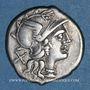 Monnaies République romaine. C. Valérius C. f. Flaccus (vers 140 av. J-C). Denier