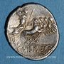 Monnaies République romaine. C. Vibius C. f. Pansa (vers 90 av. J-C). Denier