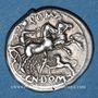 Monnaies République romaine. Cn. Domitius Ahenobarbus (vers 128 av. J-C). Denier