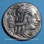 Monnaies République romaine. Cn. Fulvius, M. Calidius et Q. Metellus (vers 117-116 av. J-C). Denier