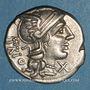 Monnaies République romaine. Cn. Lucretius Trio (vers 136 av. J-C). Denier