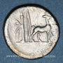 Monnaies République romaine. Cn. Plantius (vers 55 av. J-C). Denier