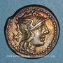 Monnaies République romaine. L. Caecilius Metellus Diadematus (vers 128 av. J-C). Denier