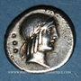 Monnaies République romaine. L. Calpurnius Piso L. F. L. n. Frugi (vers 90 av. J-C). Denier