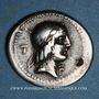 Monnaies République romaine. L. Calpurnius Piso L. f. n. Frugi (vers 90 av. J-C). Denier