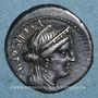 Monnaies République romaine. L. Censorinus, P. Crépusius et C. Limetanus (vers 82 av. J-C). Denier