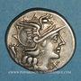 Monnaies République romaine. L. Cupiennius (vers 147 av. J-C). Denier