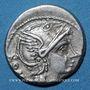 Monnaies République romaine. L. Flaminius Chilo (vers 109-108 av. J-C). Denier
