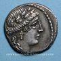 Monnaies République romaine. L. Hostilius Saserna (vers 48 av. J-C). Denier