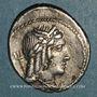 Monnaies République romaine. L. Julius Bursio (vers 85 av. J-C). Denier