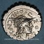 Monnaies République romaine. L. Pomponius Cn. f. (vers 118 av. J-C). Denier