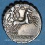 Monnaies République romaine. L. Porcius Licinus (vers 118 av. J-C). Denier dentelé