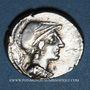 Monnaies République romaine. L. Rubrius Dossenus (vers 87 av. J-C). Denier