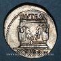 Monnaies République romaine. L. Scribonius Libo (vers 62 av. J-C). Denier