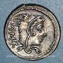 Monnaies République romaine. L. Thorius Balbus (vers 105 av. J-C). Denier