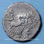 Monnaies République romaine. Lucius Appuleius Saturninus (vers 104 av. J-C). Denier