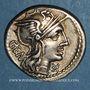 Monnaies République romaine. M. Aburius M. f. Geminus (vers 132 av. J-C). Denier