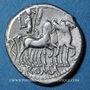 Monnaies République romaine. M. Acilius M. f. (vers 130 av. J-C). Denier
