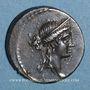 Monnaies République romaine. M. Aemilius Lepidus (vers 61 av. J-C). Denier incus
