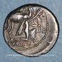 Monnaies République romaine. M. Aemilius Scaurus et Pub. Plautius Hypsaeus (vers 58 av. J-C).  Denier