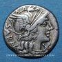 Monnaies République romaine. M. Atilius Saranus (vers 148 av. J-C). Denier