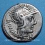 Monnaies République romaine. M. Caecilius Q. f. Q. n. Metellus (vers 127 av. J-C). Denier. Sans étoile ! ! !