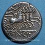 Monnaies République romaine. M. Fannius C. f. (vers 123 av. J-C). Denier