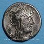 Monnaies République romaine. M. Opimius (vers 131 av. J-C). Denier