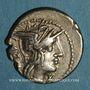 Monnaies République romaine. M. Porcius Laeca (vers 125 av. J-C). Denier