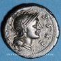 Monnaies République romaine. M. Sergius Silus (vers 116-115 av. J-C). Denier