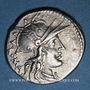 Monnaies République romaine. M. Tullius (vers 120 av. J-C). Denier