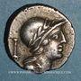 Monnaies République romaine. M. Volteius M.f. (vers 78 av. J-C). Denier