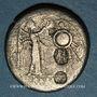 Monnaies République romaine. Monnayage anonyme (206-194 av. J-C). Victoriat contremarqué