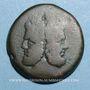 Monnaies République romaine. Monnayage anonyme. 211-206 av. J-C. As. Rome