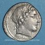 Monnaies République romaine. Monnayage anonyme. Denier, vers 86 av. J-C