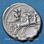 Monnaies République romaine. Monnayage anonyme (vers 143 av. J-C). Denier