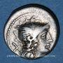 Monnaies République romaine. Monnayage anonyme (vers 157-155 av. J-C). Denier