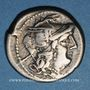 Monnaies République romaine. Monnayage anonyme (vers 179-169 av. J-C). Denier