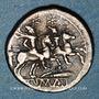 Monnaies République romaine. Monnayage anonyme (vers 208 av. J-C). Quinaire