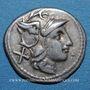 Monnaies République romaine. Monnayage anonyme (vers 211-206 av. J-C). Denier. Etrurie (?)