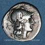Monnaies République romaine. Monnayage anonyme (vers 211-206 av. J-C). Denier