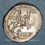 Monnaies République romaine. Monnayage anonyme. Vers 211-206 av. J-C. Denier